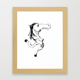 Slumokra the two legged Horse Framed Art Print