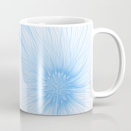 Blue White Flower | Abstract digital painting, cute floral pattern, pretty pastel flowers Coffee Mug