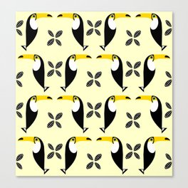 Toco Toucan Pattern Canvas Print