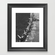 Medieval Portcullis Chain. Framed Art Print