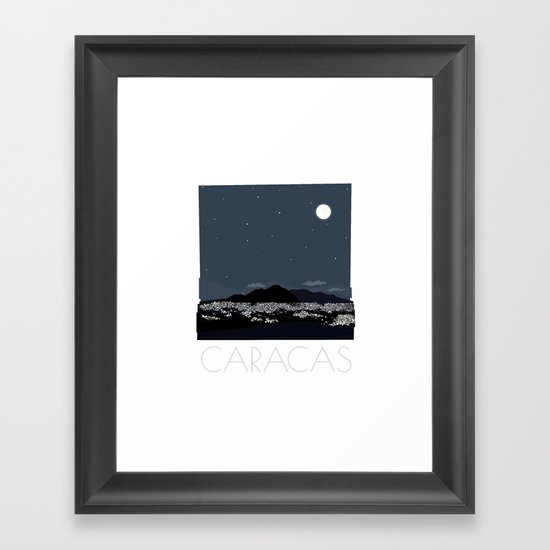 Caracas City at Night by Friztin Framed Art Print
