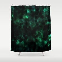 Digital Forest Cool Variant Shower Curtain