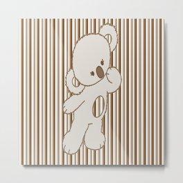 Cute Dancing Bear Metal Print