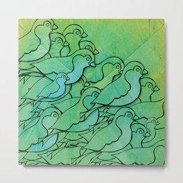flock Metal Print