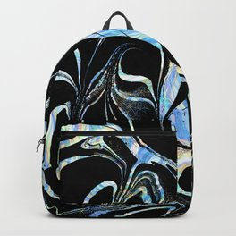 Black and Pastel Marble Swirls Backpack