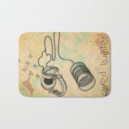 canned laughter _ head phones Bath Mat