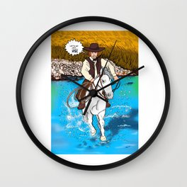Frontier Tales: Jimmy and his horse Jack Wall Clock