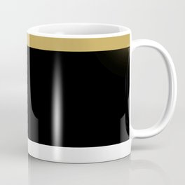 Team Colors 8...Gold ,black and white Coffee Mug