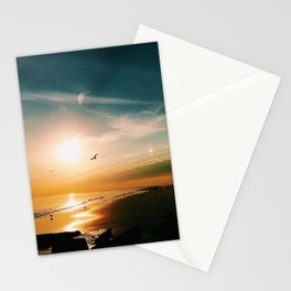 Winter Ocean Sunset Stationery Cards