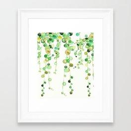 Behind the Vines Framed Art Print