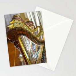 Antique Harps in Nice, France Stationery Cards