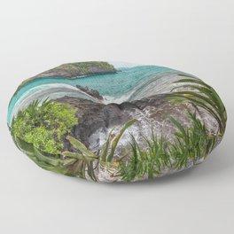 Hawaiian Turquoise Cove Floor Pillow