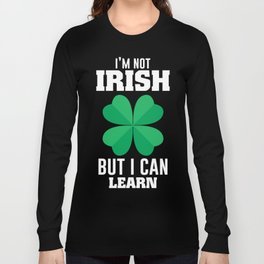 Funny Patrick's Day T-Shirt For Kids Long Sleeve T-shirt