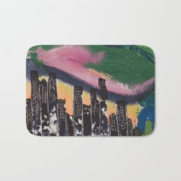 Une ville la nuit / A city at night Bath Mat