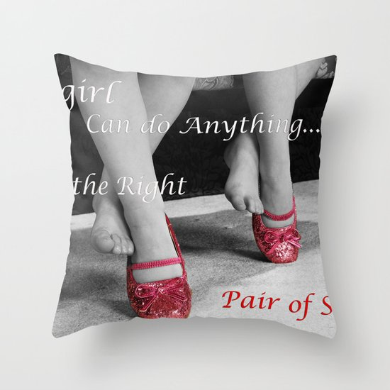 The right Shoes Throw Pillow