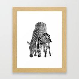 Striped Love (black and white) Framed Art Print