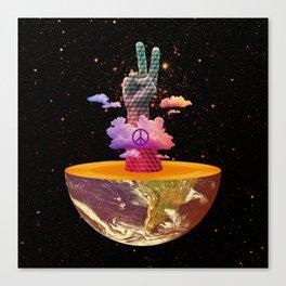 Peace Planet Canvas Print