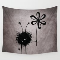 bug Wall Tapestries featuring Evil Flower Bug by Boriana Giormova