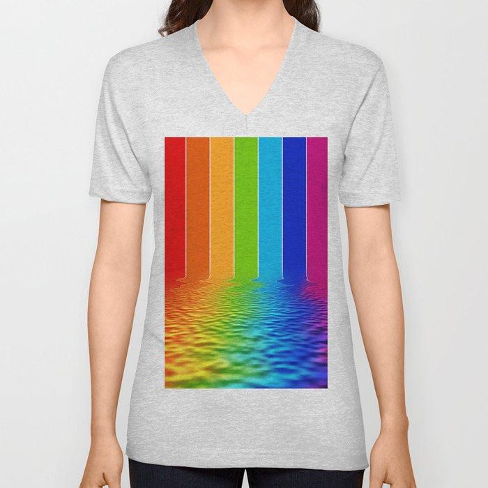 spectrum water reflection Unisex V-Neck