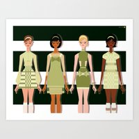60s Art Prints featuring Mod 60s by Niki Sauter