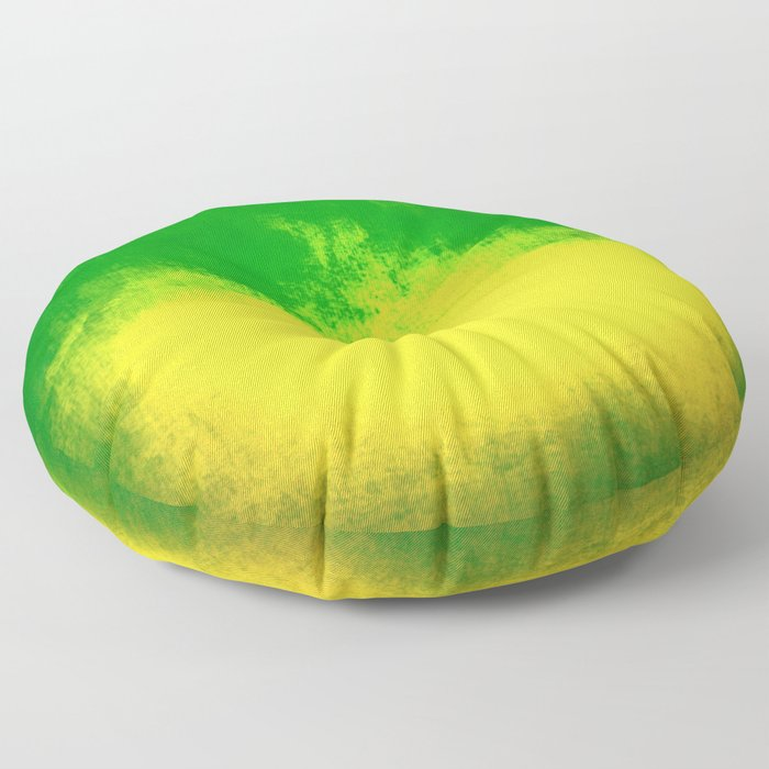 Green Sunrise Floor Pillow
