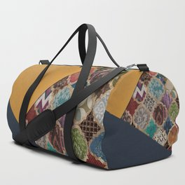 (N11) Vintage Traditional Moroccan Artwork Mixed with Modern Colored Touch. Duffle Bag