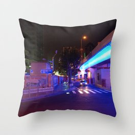 Night Time in Shanghai Throw Pillow
