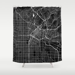Los Angeles - Minimalist City Map Shower Curtain