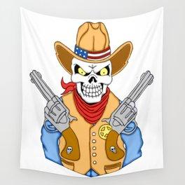 Western Cowboy Skull Wall Tapestry