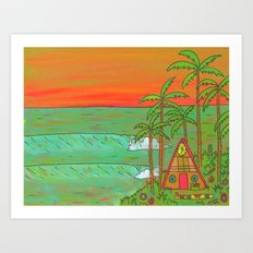 A Frame Dream Home Surf Paradise Art Print