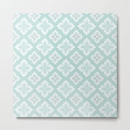 Oriental vector pattern with damask Metal Print