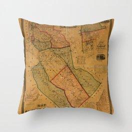Map Of Camden 1857 Throw Pillow