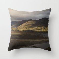 Clouds, Land, Water Throw Pillow