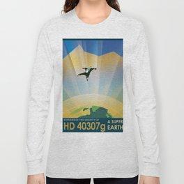 NASA Retro Space Travel Poster #6 Long Sleeve T-shirt