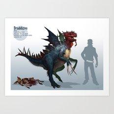 Pokemon-Druddigon Art Print