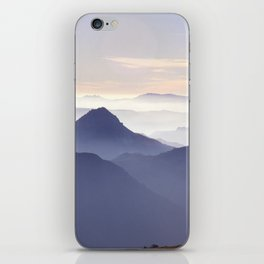 """""""Sunset at the mountains III"""" iPhone Skin"""