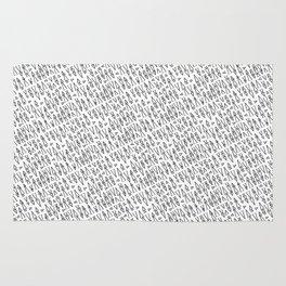 Tiny Triangles - Black & White Rug