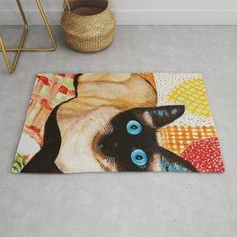 Misha the beautiful Siamese Cat Rug