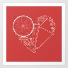 Love Bike (On Red) Art Print