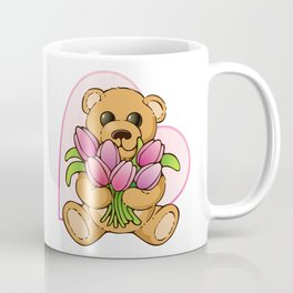 Teddy Bearing Tulips Coffee Mug