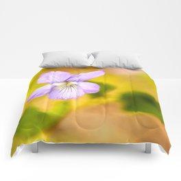 Wildflower Pansy Summer Blossom #decor #society6 #buyart Comforters