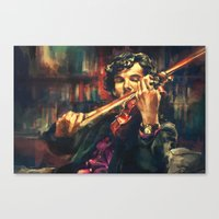 cumberbatch Canvas Prints featuring Virtuoso by Alice X. Zhang