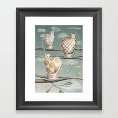 Cats in Cups Framed Art Print