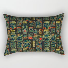 Maya Calendar Glyphs pattern Rectangular Pillow
