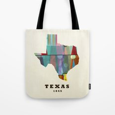 Texas state map modern Tote Bag