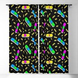 80s retro bandaids Blackout Curtain