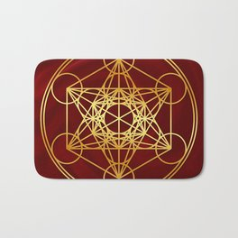 Metatrons Cube, Flower of life, Sacred Geometry Bath Mat