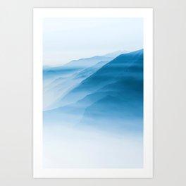 Snowy Blue Mountains (Color) Art Print