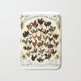The Poultry of the World Bath Mat