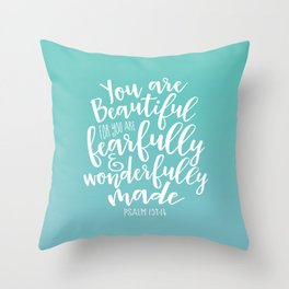 Wonderfully Made Throw Pillow